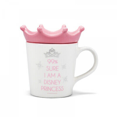 Official Disney Princess Crown Lid And Coaster Coffee Mug Cup New In Gift Box • 16.95£