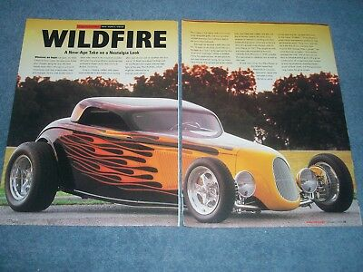 AU18.72 • Buy 1933 Ford Trackstar Highboy Coupe Hot Rod Article Wildfire Rat's Glass