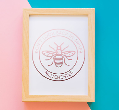 Manchester Bee A4 Print - Rose Gold Foiled - Worker Proud Charity • 6.99£