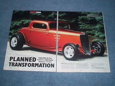 AU15.84 • Buy 1933 Ford 3-Window Coupe Highboy Hot Rod Article  Planned Transformation