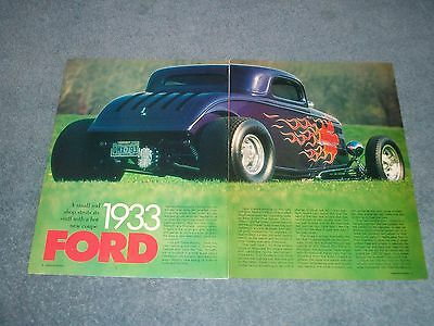 AU15.84 • Buy 1933 Ford 3-Window Coupe High Boy Vintage Street Rod Article