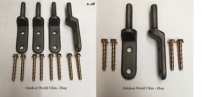 Wrought Iron Gate Metal Steel Hinges 12mm Pins Wall Fence Post Brackets Hangers# • 24.99£