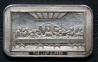 Silver Bullion  Ingot 1 Oz. Bar Collector Rare  Last Supper  • 71.53£