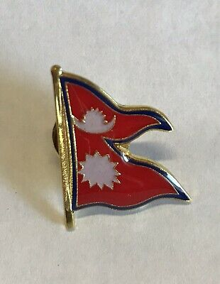 Nepal Country Flag Metal Lapel PIN BADGE ..NEW • 4.25£