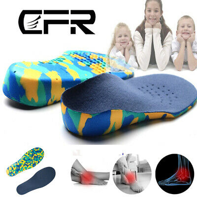 EVA Arch Support Insoles Orthotic Orthopedic Shoe Inserts For Kids Children BQ • 6.99£