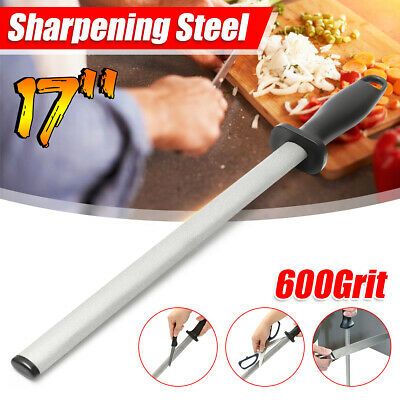 $13.97 • Buy 17'' 600# Grit Diamond Knife Sharpening Steel Rod Sharpener Stone Stick Kitchen