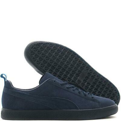 Puma Clyde OTH Limited Edition Black Iris Navy Suede Retro Fashion Trainers • 49.99£