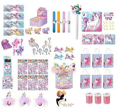 UNICORN PARTY Kids FAVOURS Loot Bag Boxes Filler Toys Gift • 2.85£
