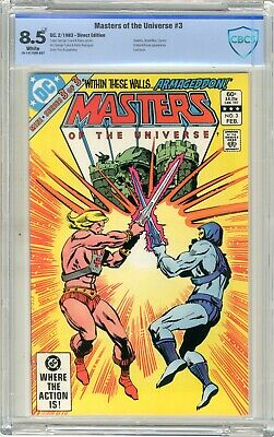 $55 • Buy Masters Of The Universe  #3  CBCS  8.5  VF+  White Pgs  2/83  Skeletor, Beast-M