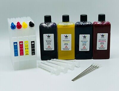 Windsor Sublimation Refillable Ink Cartridge Set  Ricoh GC-41 SG3100SNw SG3110DN • 119.99£