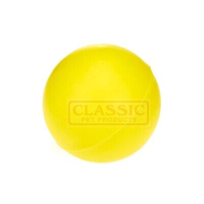 £6.34 • Buy Yellow Medium Solid Strong Tough Hard Rubber Dog Treat Ball Fetch Toys