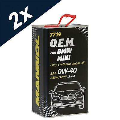 Mannol 2x4L Fully Synthetic Engine Oil 0W40 FOR BMW MINI ACEA C3 LL-04 Dexos 2 • 34.39£