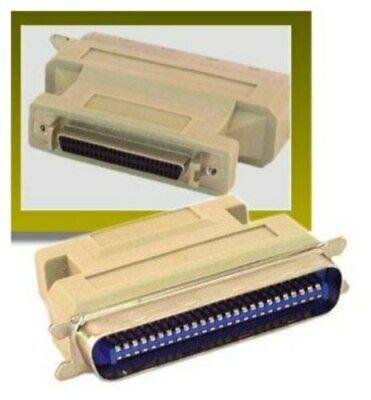$17.99 • Buy 50pin Centronics Male Plug~SCSI-2 Female Jack Cable/cord/wire External Adapter