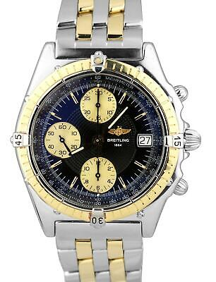 4a2530985d8 Breitling Chronomat 39mm Chronograph Black 18K Two Tone Stainless D13050.1  Watch • 2,793.93$