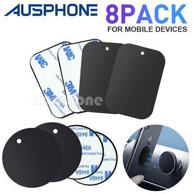 AU6.99 • Buy 8x Magnet Metal Plate Disc For Magnetic Car Dash Phone GPS Mount Stand Holder