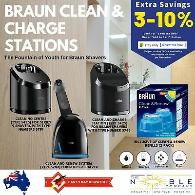 AU129.95 • Buy Braun Shaver Series 9 5 3 Clean & Renew Cleaning System Cleaner Charging Station