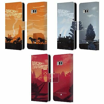 Back To The Future Movie Iii Car Silhouettes Leather Book Case For Htc Phones 1 • 16.95£