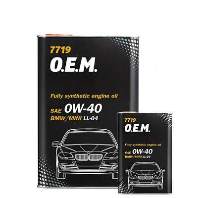 4+1L Mannol Fully Synthetic Engine Oil 0W40 FOR BMW MINI ACEA C3 LL-04 Dexos 2 • 23.99£
