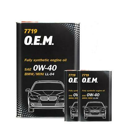 6L Mannol Fully Synthetic Engine Oil 0W40 FOR BMW MINI ACEA C3 LL-04 Dexos 2 • 27.99£