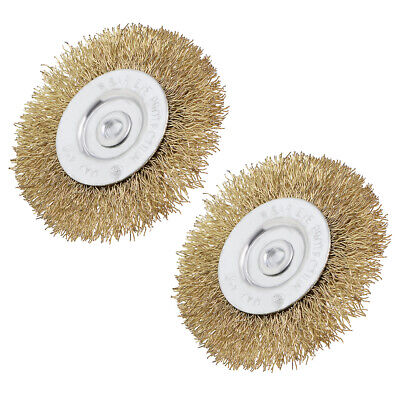 $ CDN10.09 • Buy 2.6-Inch Wire Wheel Brush Bench Copper Plated Crimped Steel 1/4-Inch Shank 2 Pcs
