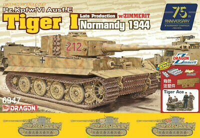DRAGON 6947 1/35 Tiger I Late Production W/Zimmerit - Normandy 1944 TANK • 61.29£