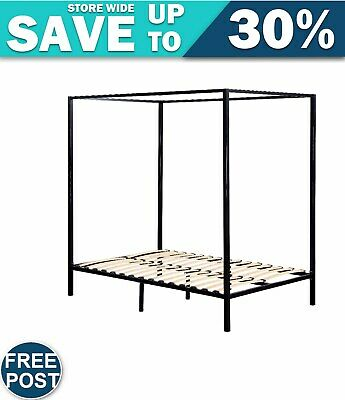AU367.38 • Buy 4 Four Poster Queen Bed Frame