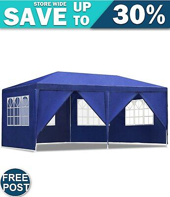 AU106.49 • Buy Gazebo 3x6m Outdoor Marquee Side Wall Gazebos Tent Canopy Camping Blue 8 Panel