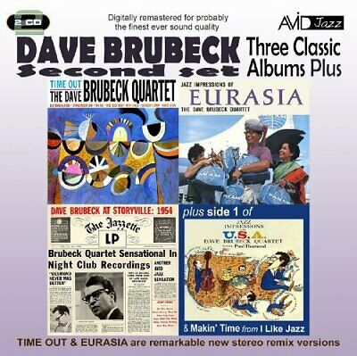 £3.49 • Buy Dave Brubeck - 3 Classic Albums Plus - Dave Brubeck CD 2AVG The Cheap Fast Free
