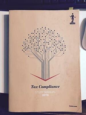 Tax Compliance Study Manual 2018 By ICAEW Book The Cheap Fast Free Post • 5.99£