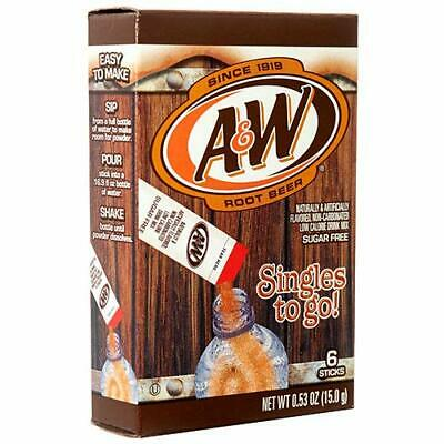 A&W Root Beer Drink Mix Singles To Go! Sugar Free 1 Box/6 Sticks • 4.02£