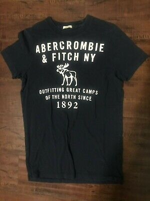 1f4fa8f5 Abercrombie Dark Navy Small Size Muscle T-Shirt With Moose Logo Design, For  Men
