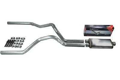 $181.90 • Buy Chevy GMC 1500 Truck 99-06 2.5  Dual Truck Exhaust Kit Flow II Stainless Muffler