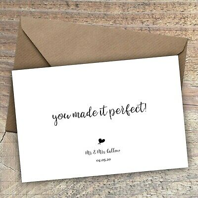 £5.25 • Buy Personalised Thank You Cards/Postcard Wedding,Bridesmaid,Baby, Packs Of 10