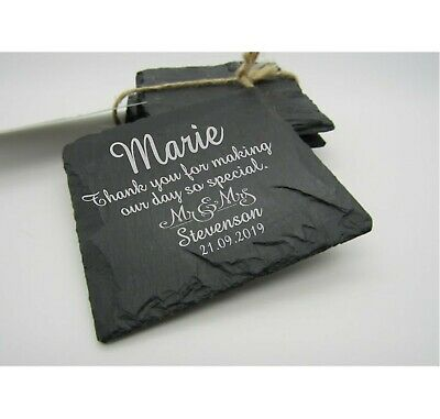 £30 • Buy Personalised Wedding Favours,Slate Coasters Engraved Wedding Favours Guests Gift