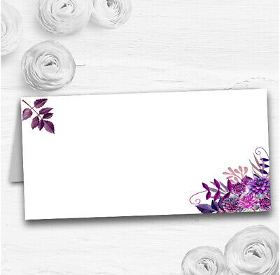 £12.89 • Buy Cadbury Purple Watercolour Florals Wedding Table Seating Name Place Cards