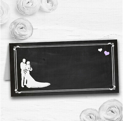 £34.89 • Buy Chalkboard Lilac Wedding Table Seating Name Place Cards