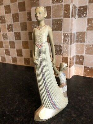 "ENESCO PRINCESS 11""inch PARASTONE FIGURINE C.1997  WOMAN AND GIRL • 10.48£"
