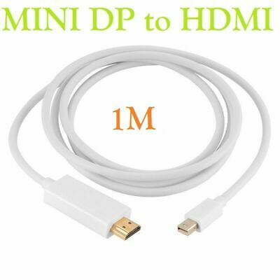 £3.99 • Buy 1M Mini DP Display Port Thunderbolt To HDMI Cable Adapter For MacBook Pro IMac