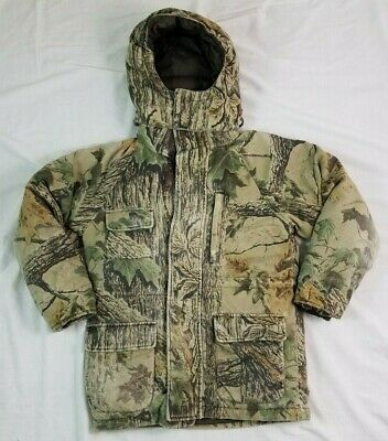 561dfca92471a CABELAS Youth Jacket NORTHERN GOOSE DOWN Camo M Medium Hooded Outdoor  HUNTING • 27.99$