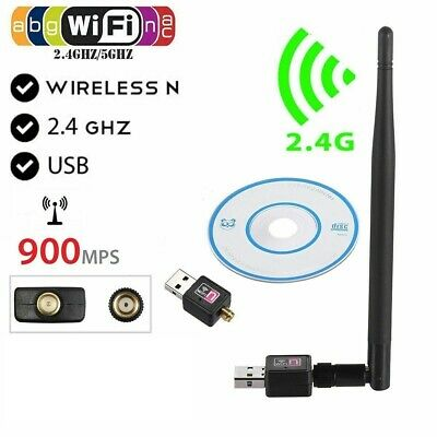 £4.97 • Buy 900Mbps USB WiFi Dongle 5/2.4GHz Adapter Antenna Wireless Network For Laptop PC
