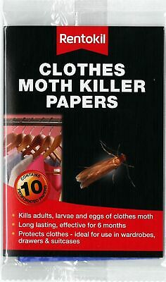 Rentokil Clothes Moth Killer Paper Catcher 10 In A Pack • 4.99£