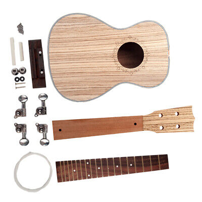 AU46.24 • Buy DIY Ukulele Kit Ukulele Wooden 4 Strings Musical Instrument Zebrawood