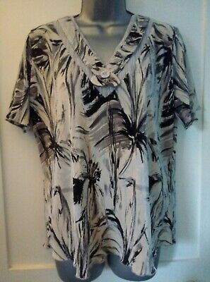 £6.30 • Buy Stylish Size L FOREVER By 'Michael Gold' Summer Print Blouse