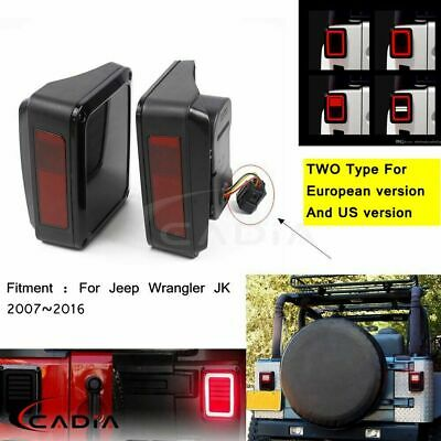 AU129.80 • Buy For Jeep Wrangler JK 07-16 Rear LED Tail Light Brake Signal Reverse Plug & Play