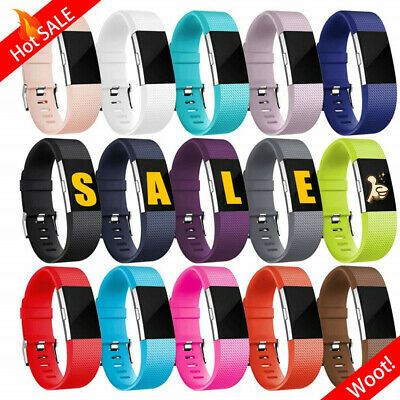 AU5.25 • Buy Fitbit Charge 2 Bands Replacement Silicone Wristband Watch Strap Bracelet Sport