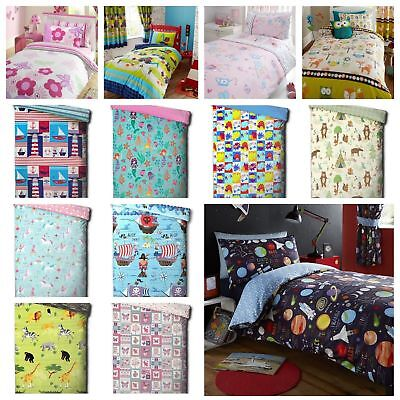 Kids Character Junior / Toddler / Cot Bed Duvet Quilt Cover And Pillowcase Sets • 13.99£