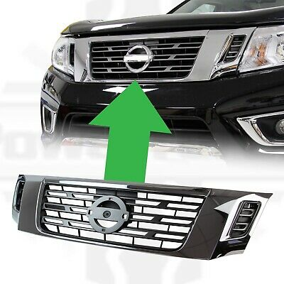 Front Grille Grille Chrome For Fit Nissan Navara NP300 2015 2016 2017 18 Onward • 84.99£