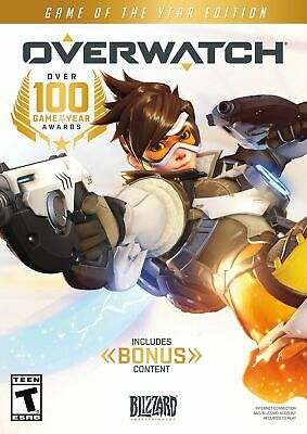 AU66.03 • Buy Overwatch Game Of The Year Edition + BONUS PC Jewel Case Brand New Free Shipping