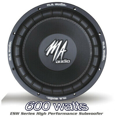 $66.96 • Buy MA AUDIO 12  Inch 600w Car Audio Subwoofer Driver Bass SubWoofer Brand New