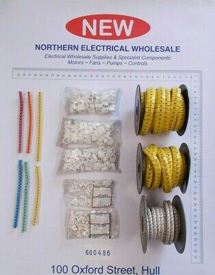 £70 • Buy Box 9000+ Assorted Cable Markers All Letters A-Z And Numbers 0-9 Some Symbols